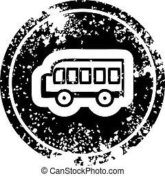 school bus distressed icon