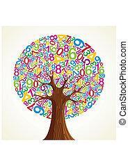 School education concept tree hand
