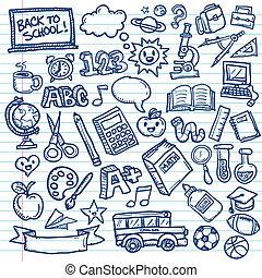 School Freehand Doodles