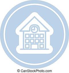 school house circular icon