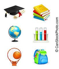 School icons, vector