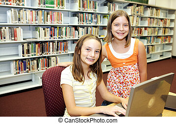 School Library - Technology in Class