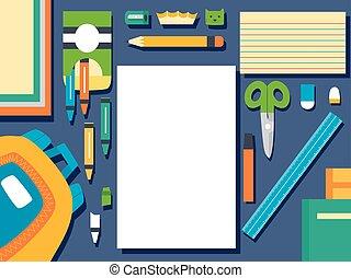School Supplies Elements Illustration