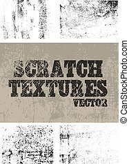 5 differents scratched textures for vintage effect