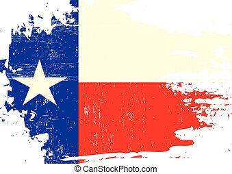 A flag of Texas with a grunge texture