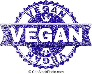 Scratched Textured VEGAN Stamp Seal with Ribbon