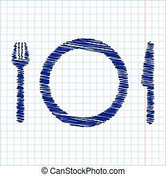 Scribble icon with pen effect