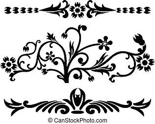 Scroll, cartouche, decor, illustration