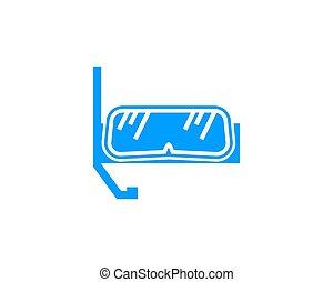 Scuba diving sport logo design vector concept
