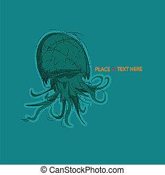 Illustration of a sea creature