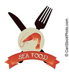 Sea food gastronomy graphic design, vector illustration eps10