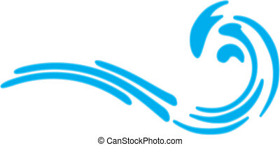 Sea wave. No gradient. Isolated Abstract Background Vector Illustration.