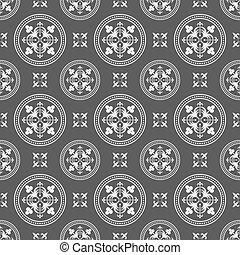 Seamless Antique Dark Pattern