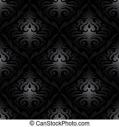 seamless black silk wallpaper pattern