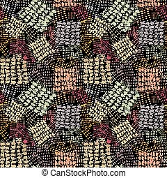 Seamless brushpen textile doodle pattern grunge texture. Trendy modern ink artistic design with authentic, unique scrapes, watercolor blotted background for a logo, cards, invitations, posters, banners.