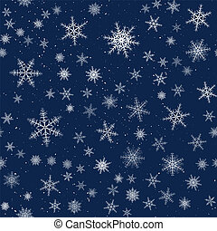 Seamless Christmas pattern cartoon style with snowflakes. Vector