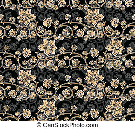 Seamless Floral-Background