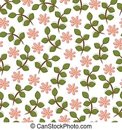 Seamless floral background, vector illustration