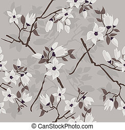 Seamless floral blossom pattern