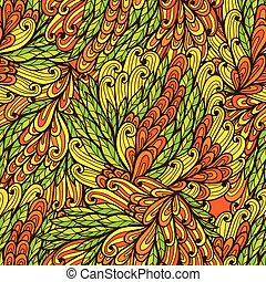 Seamless floral doodle pattern