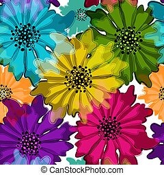 Seamless floral motley pattern