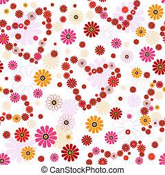 Seamless floral valentine pattern