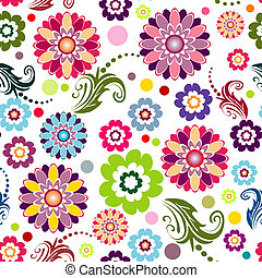 Seamless floral vivid pattern (vector)