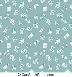 Seamless gadgets background texture