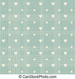 seamless hearts polka dot pattern