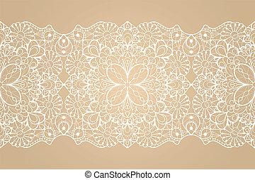 Seamless lace ribbon