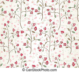 Floral seamless pattern. EPS 10 vector illustration