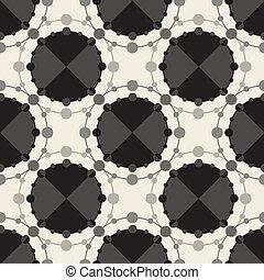 seamless monochrome dot pattern background