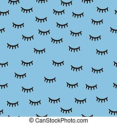 seamless monochrome eyelash pattern background