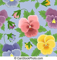 Seamless pansies pattern