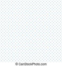 Seamless Pastel Blue Dots on White