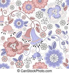 Seamless pastel floral pattern