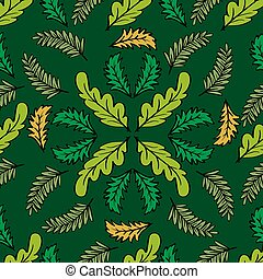 Seamless pattern leaf vector background