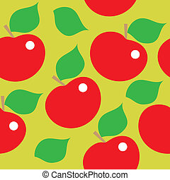 Seamless pattern of red apples