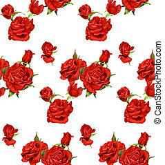 seamless pattern of red roses
