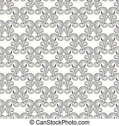 Seamless pattern swirl monochrome background