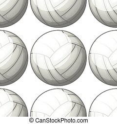 Seamless pattern tile cartoon with volleyball