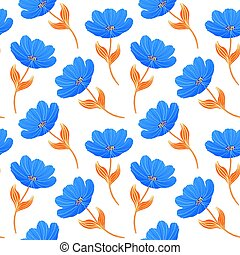 blue tulips on white background.