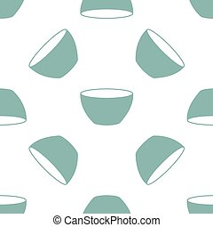 seamless pattern with bowl