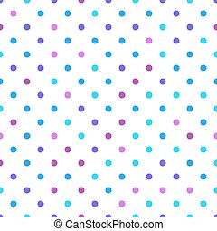 Seamless pattern with circle ornament in purple, pink and light blue pink tones on a white background