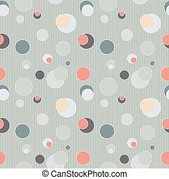 Seamless pattern with circles and lines - vector illustration. eps 8