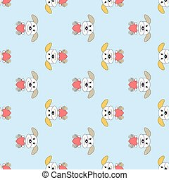 Seamless pattern with dogs. Vector background for kids