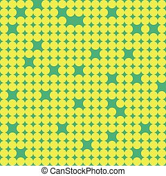 Seamless pattern with little yellow circles