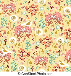 seamless pattern with nature
