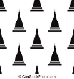 seamless pattern with Pagoda