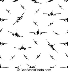 seamless pattern with plane